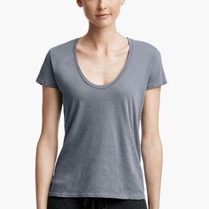 James Perse Standard Estilo Scoop Neck T-shirt. 2